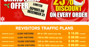 Revisitors - Free Traffic Christmas Sale