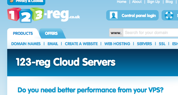 123Reg Cloud Servers