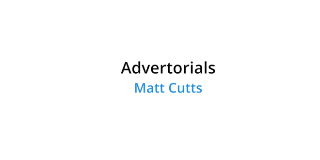Matt Cutts on Paid Advertisement
