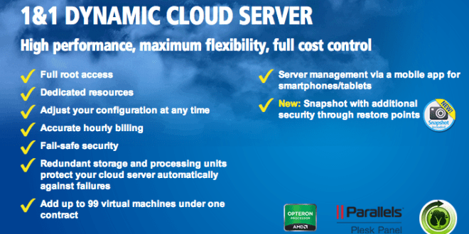 1&1 Announces New Dynamic Cloud Server Hosting Package