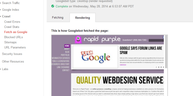 Google adds new fetch render to webmaster tools seo for Online rendering tool