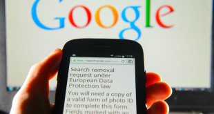 "File photo dated 30/05/2014 of a Google search removal request displayed on the screen of a smart phone, after BBC economics editor Robert Peston has had a blog, which was published almost seven years ago on the BBC website, reportedly set to be made unsearchable in Google in a move resulting from a court ruling about the ""right to be forgotten""."