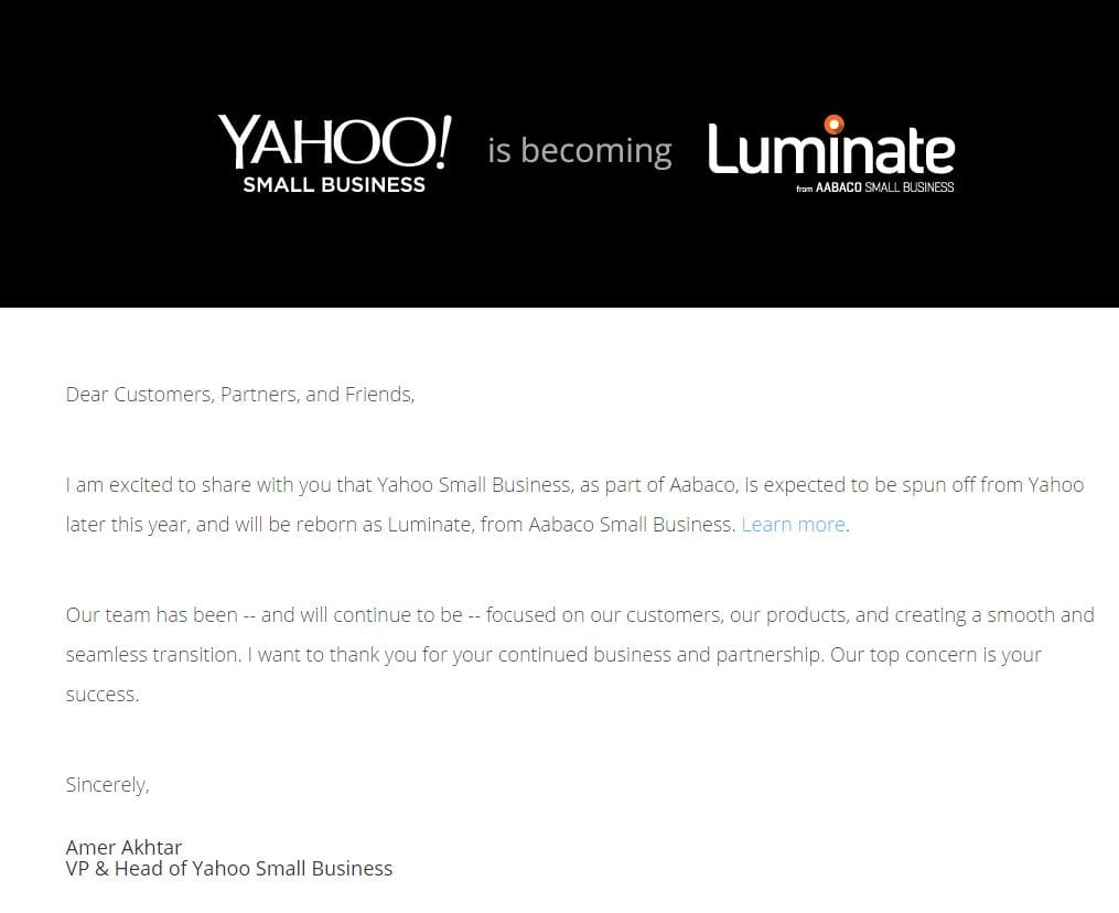 Yahoo Finally Figures Out What To Do With Luminate - Service