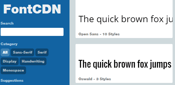 Annoyed With Google Fonts UI? Make Your Life Easier With FontCDN