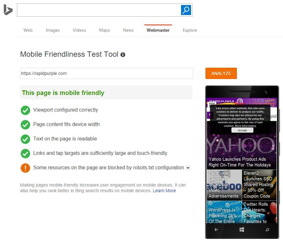 bing-mobile-test-tool