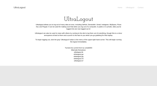 UltraLogout