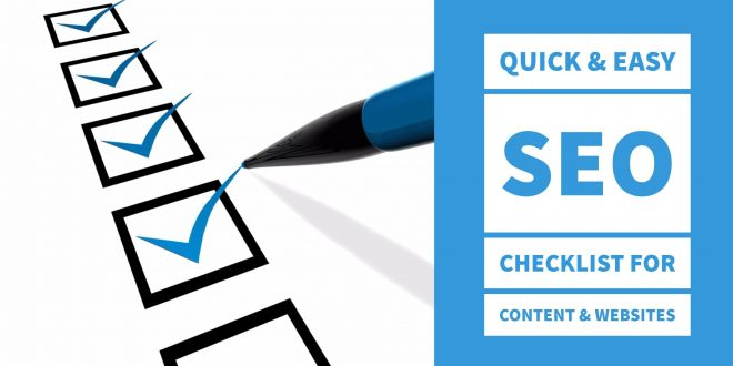 your quick easy seo checklist for content websites seo tips