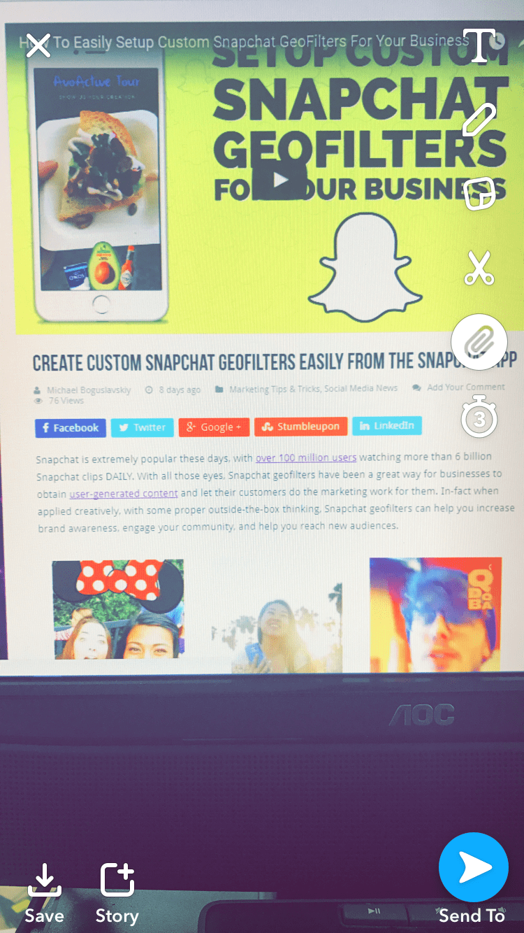 Promote Your Website By Adding Links To Your Snapchat Snaps